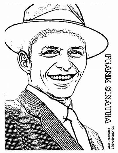 Coloring Pages Star Frank Sinatra Elvis Hollywood