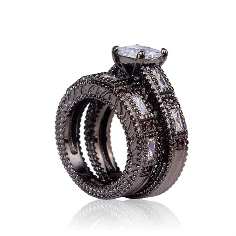 buy cheap black ring  women wedding