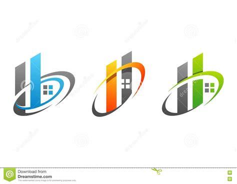 H Home Logo Design : Real Estate Company Vector Logotype Icon Cartoon Vector