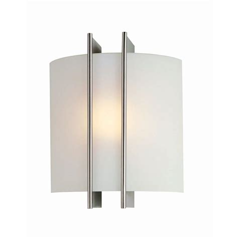 ls sconces paint illumine reyna 1 light steel sconce with frosted glass cli