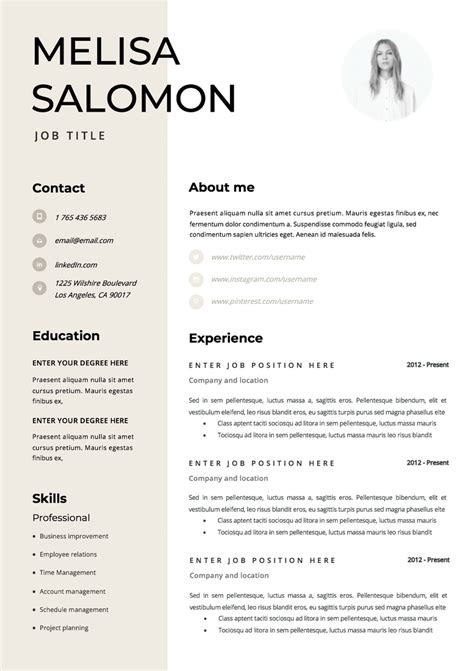 Where Can I Find Free Resume Templates by Professional And Creative Microsoft Word Resume Templates