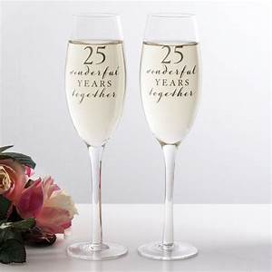 happy 25th anniversary glasses the gift experience With 25th wedding anniversary glasses