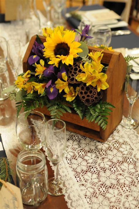 sunflower centerpieces  wedding