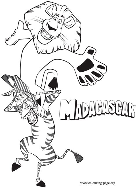 madagascar alex  martys shoulders coloring page