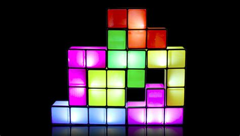 tetris lamp lights   stacked   disappearing
