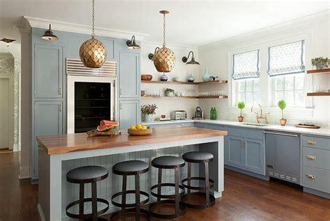 blue beadboard kitchen island  arteriors osgood iron