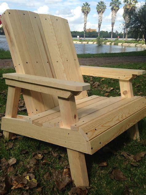silla de madera jardin terraza  adirondack