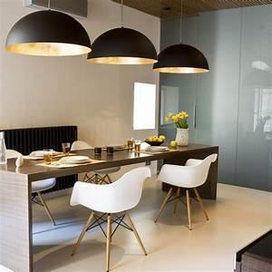 Hängeleuchten Esstisch Modern : s luce blister pendelleuchte 40 cm schwarz goldfarben 10655 ~ Orissabook.com Haus und Dekorationen