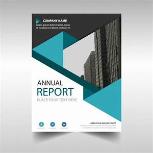 Blue Polygonal Annual Report Cover Template Vector