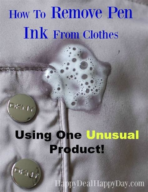 How To Remove Pen Ink From Clothes  Using One Unusual