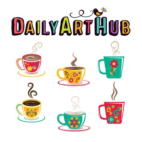 This is stephen lursen and i am so excited to be releasing a brand new art instructional video called coffee cup workshop. Delicate Coffee Cup Clip Art Set - Daily Art Hub - Free Clip Art Everyday