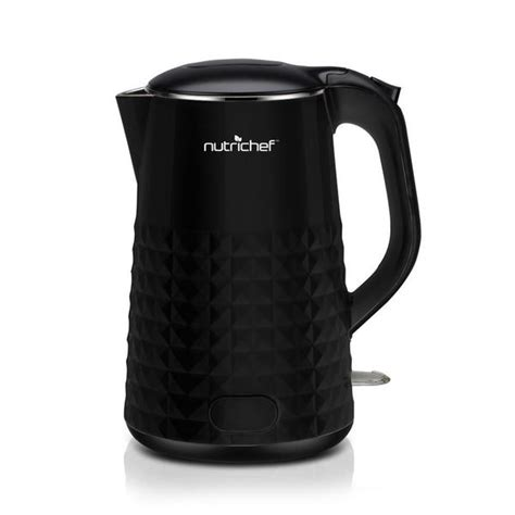 Kitchen Kettle Reviews by Shop Nutrichef Black Electric Kitchen Kettle Free