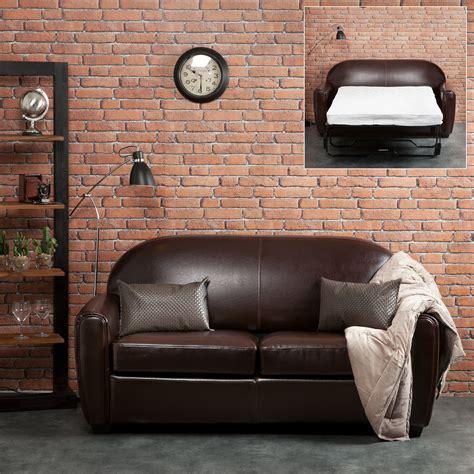 house de canape canapé croûte de cuir enduite bycast brun tennessee 3