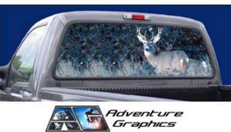 vehicle graphics rear window graphics buck hunting