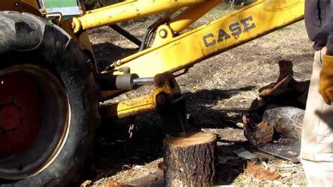 backhoe mounted wood splitter youtube