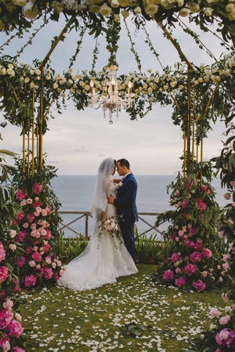 vintage glam bali wedding  khayangan estate junebug