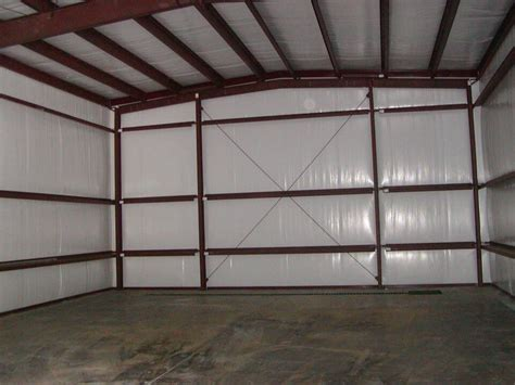 insulate metal shed metal building insulation options prices general steel