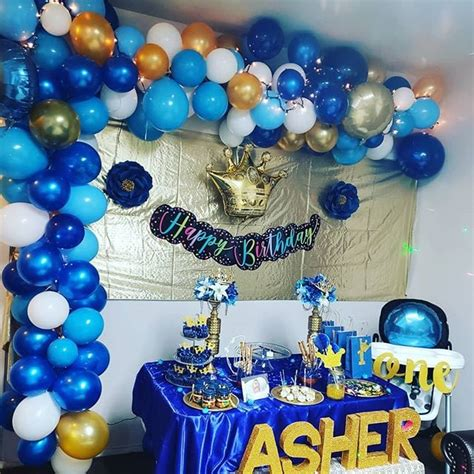 Royal Blue Creative First Birthday Party Ideas