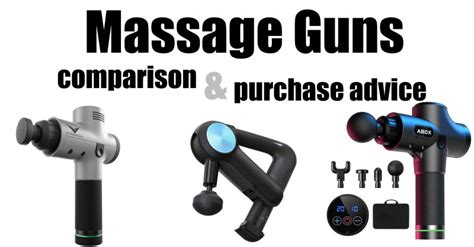 Comparison of massage guns - Which is the best?