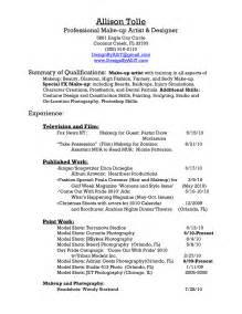 sle resume for spm qualification sle makeup artist resume cover letter makeup vidalondon