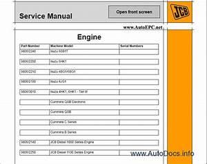 Jcb Service Manuals 2008 Full Set Repair Manual Order
