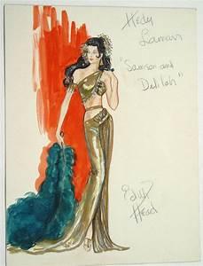 Edith Head Hedy Lamarr Costume Design Sketch on | COSTUME ...