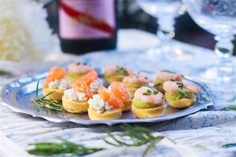 bouchées apéritives saumon fromage ou crevette avocat