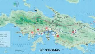 Map of USVI St. Thomas Virgin Islands