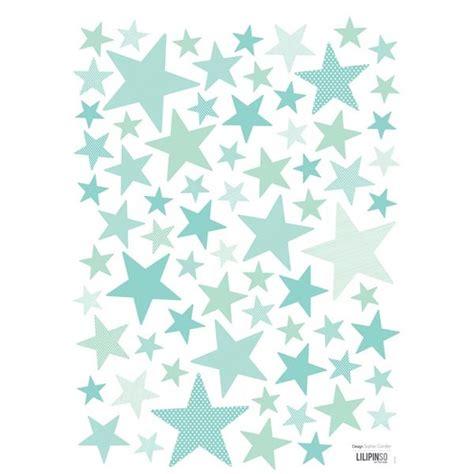 sticker ourson chambre bébé lot de plusieurs stickers étoiles couleur mint