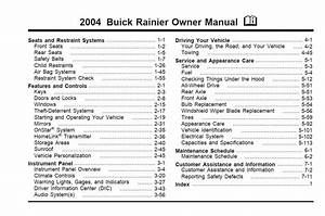 Buick Rainier 2004 Owner U0026 39 S Manual