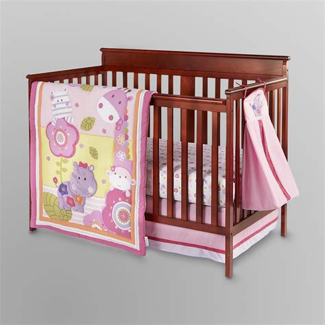 kidsline crib bedding set girly girl jungle 4 pc
