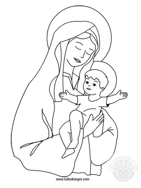 disegni madonna con bambino da colorare immagine con ges 249 da colorare tuttodisegni
