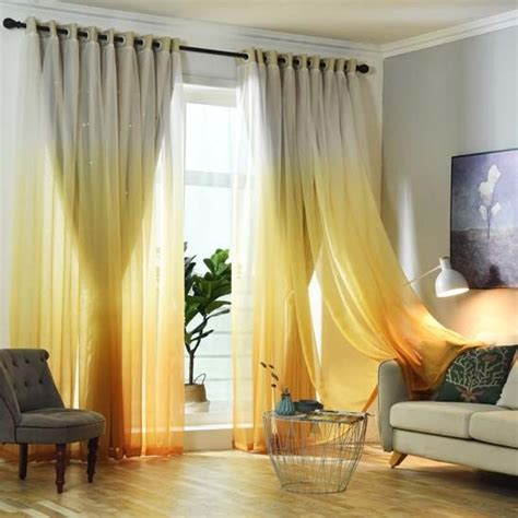yellow blackout curtains