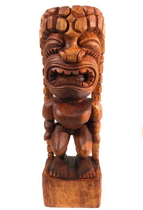 traditional kanaloa tiki  hawaii museum hawaii