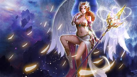 league  angels hero divine angel image artwork wallpaper