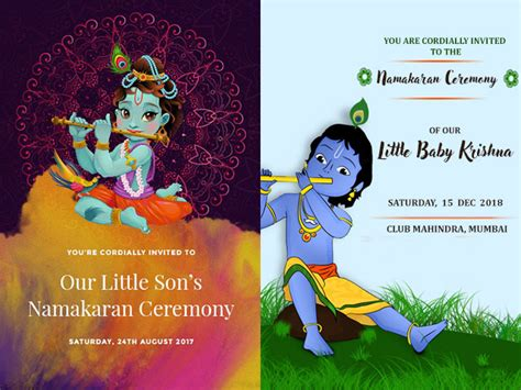super cute naming ceremony invitation card templates