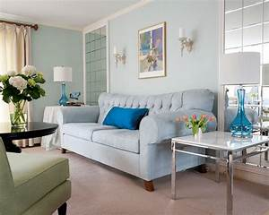 Light blue painted living rooms room