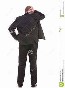 Back Of Confused Business Man Stock Image - Image: 34596629