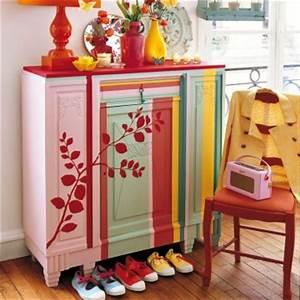 Peinture Sur Meuble : peinture sur meuble ancien ~ Mglfilm.com Idées de Décoration