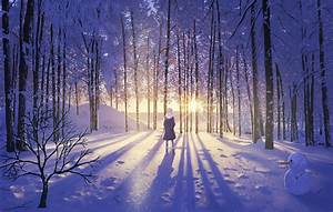 Download 1920x1221 Anime Girl, Snow, Winter, Forest ...
