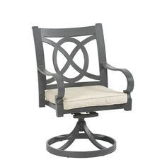 allen roth newstead gray textured rectangle patio dining