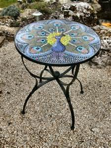 Small Round Mosaic Outdoor Table