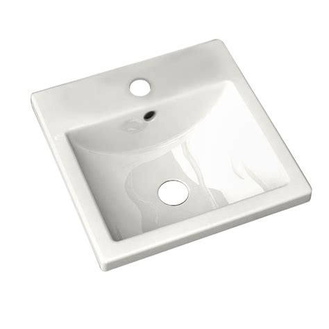 drop in bathroom sink replacement american standard studio carre countertop bathroom sink