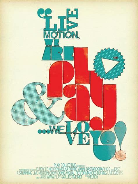 typography poster design  damien vignaux