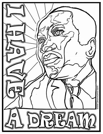 Luther Martin King Coloring Dream Jr Mlk