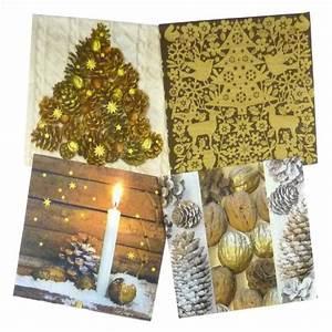 Serviette De Noel En Papier : lot de 12 serviettes papier no l marron glac ~ Melissatoandfro.com Idées de Décoration