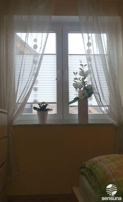 Fenster Gestalten by Sensuna 174 Plissee Gardinen Am Schlafzimmer Fenster