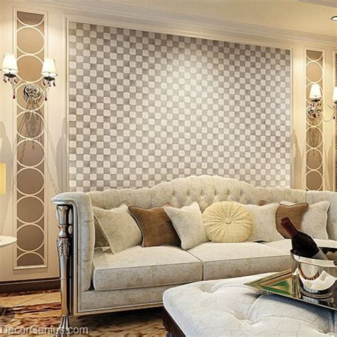 Living Room Wall Tiles by Decorgenius White Grey Leather Wall Tile Living Room Decor