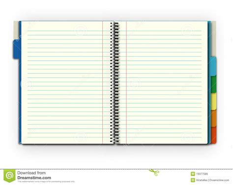 Open Notebook Stock Illustration Image Of Work, Student 19377589