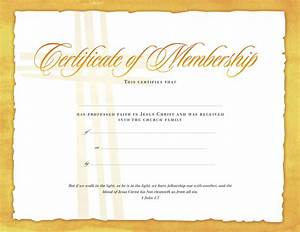 best photos of church membership certificate template With new member certificate template